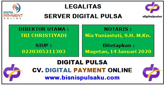 Legalitas Server Digital Pulsa