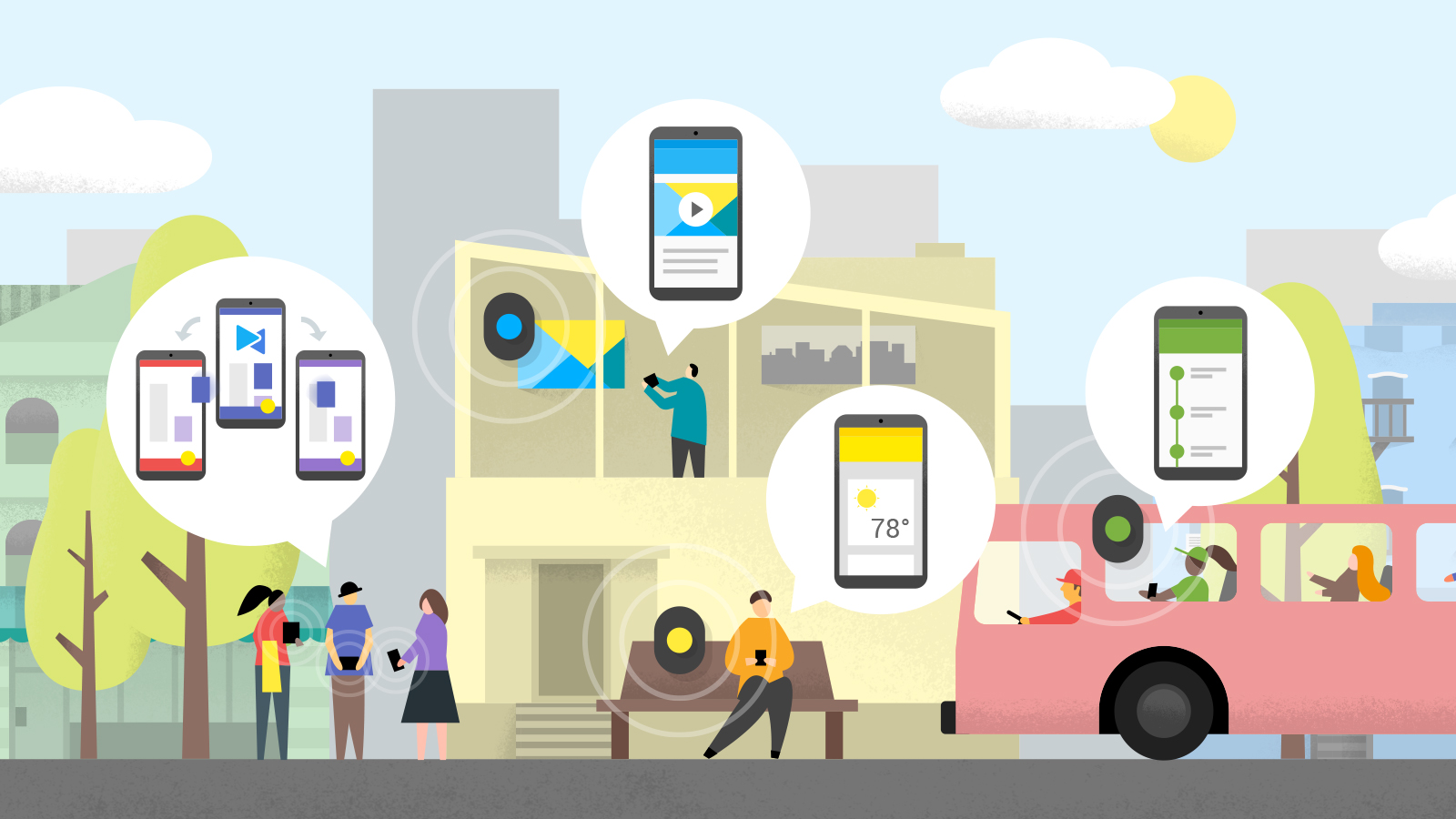 Android Developers Blog: Lighting the way with BLE beacons