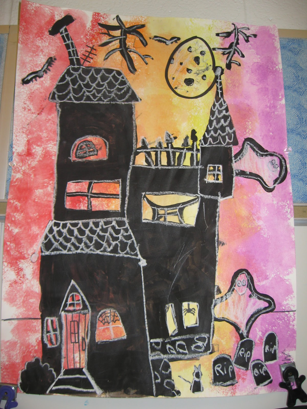 Jamestown Elementary Art Blog Third Grade Spooky