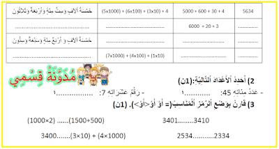 فرض رقم 1 الدورة 2 الرياضيات المستوى الثالث المنهاج المنقح