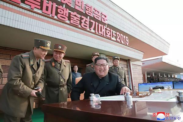 Kim Jong Un at combat flight contest-2019, November 2019