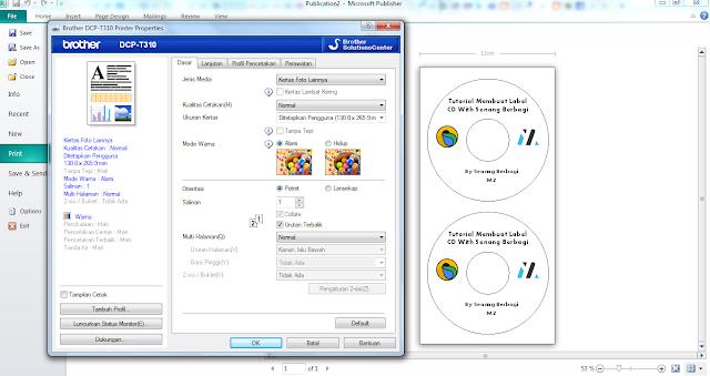 cara Print Label CD dengan Printer Brother DCP-T310