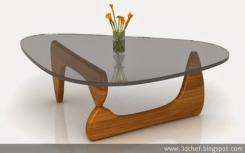 free 3d model glassy table