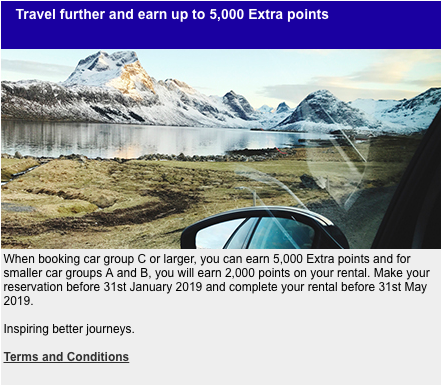 Upgrade Your Trip 5 000 Sas Eurobonus Points With An Avis Rental