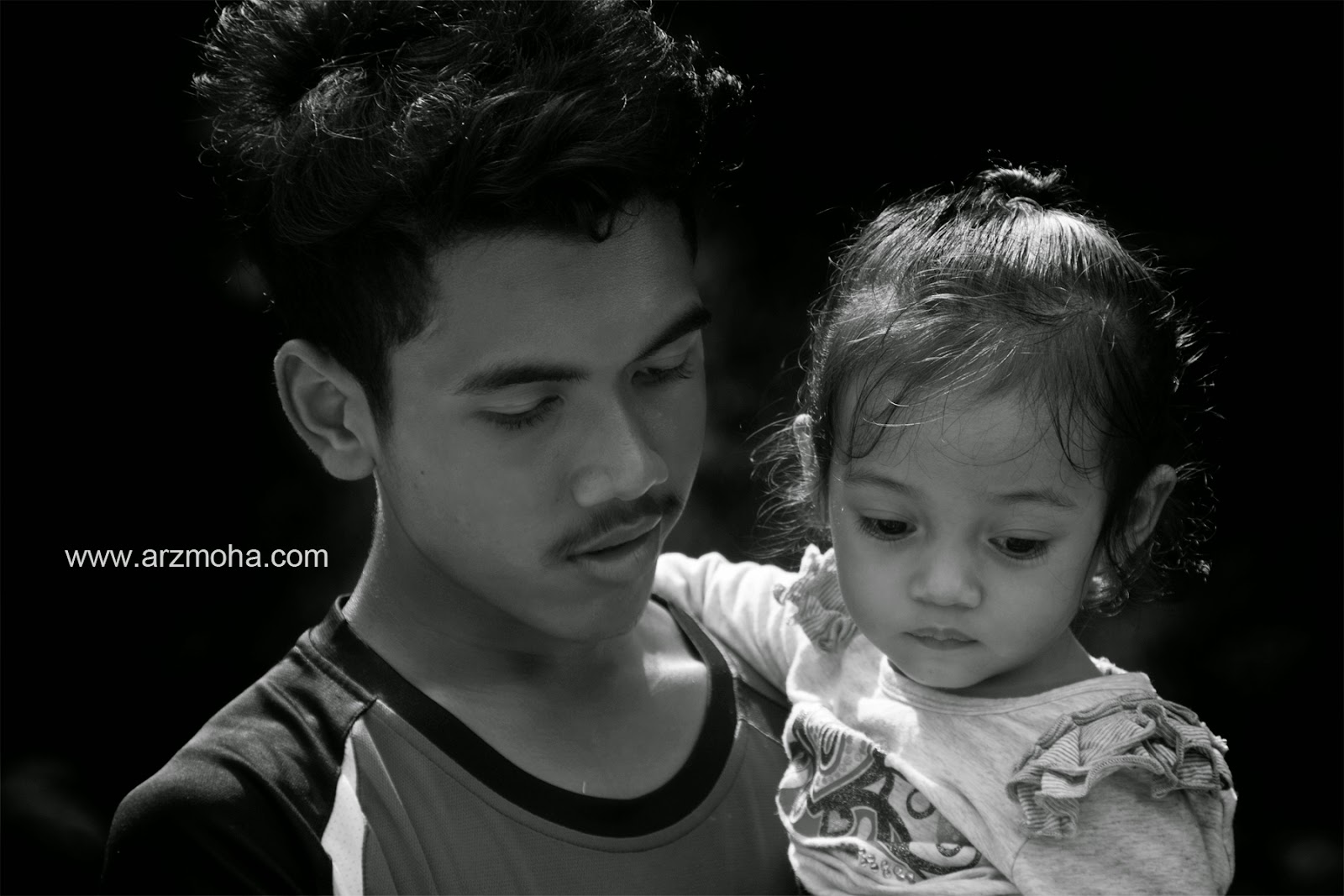 Afiq, Fikry, Almira, Faqihah, Kids, Boy, Girl, Cousin, Black and White