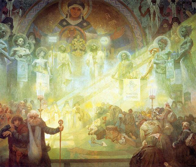 Альфонс Муха - Славянский эпос. Святая гора Афон. 1926