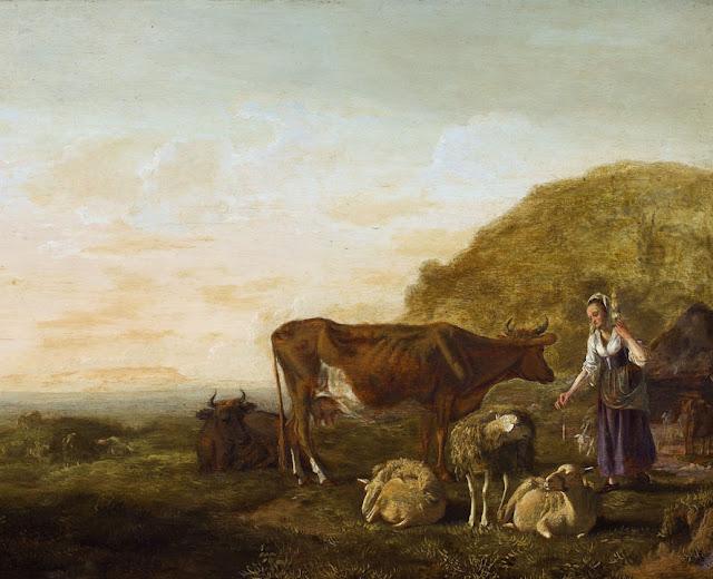 Альберт Кёйп - Крестьянка и домашняя скотина
