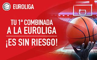 sportium promocion EUROLIGA: Combinada Sin Riesgo 5-6 abril