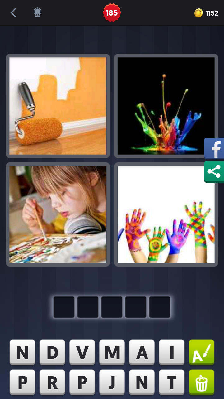 4 Pics 1 Word Answers Solutions Level 185 Paint