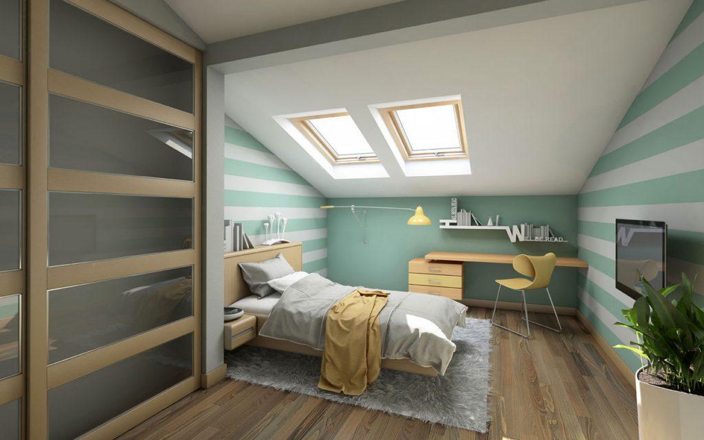 Schlafzimmer Dachschrägen Für Jugendzimmer Modern Design In Weiß