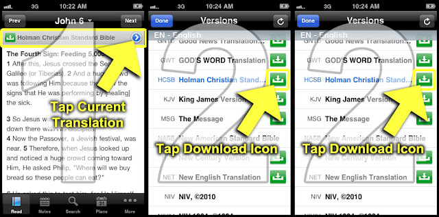 How to Download YouVersion Bible Translations to Your iOS Device like iPhone/ iPad/ iPod for Offline Viewing