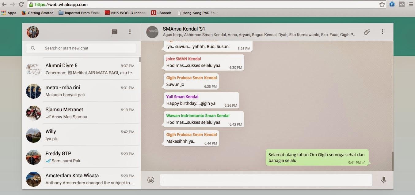 Cara Install dan Menggunakan WhatsApp WA Web melalui