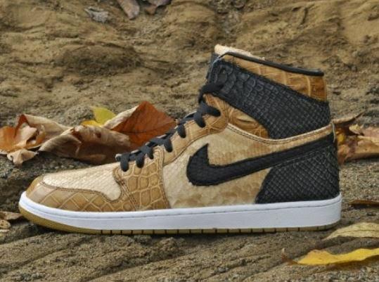 """Air Jordan 1 """"Desert Storm"""" Snakeskin JBF Custom Sneaker (Detailed Images) 44f7a56be8a5"""
