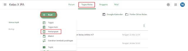Cara membuat Survei atau Pertanyaan di Google Classroom