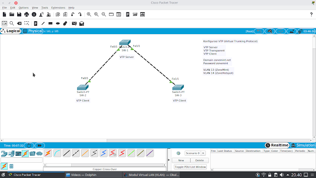Tutorial Konfigurasi VTP pada Cisco Packet Tracer