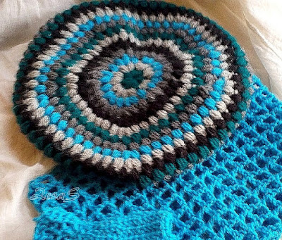 Crocheted cap - Beret