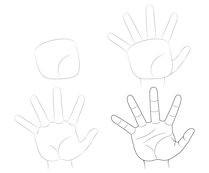 Tangan meraih gambar selangkah demi selangkah