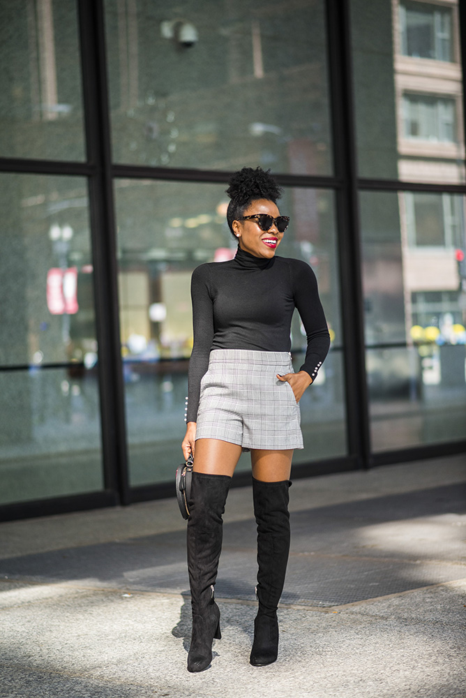 How to style Plaid shorts for Fall/Winter