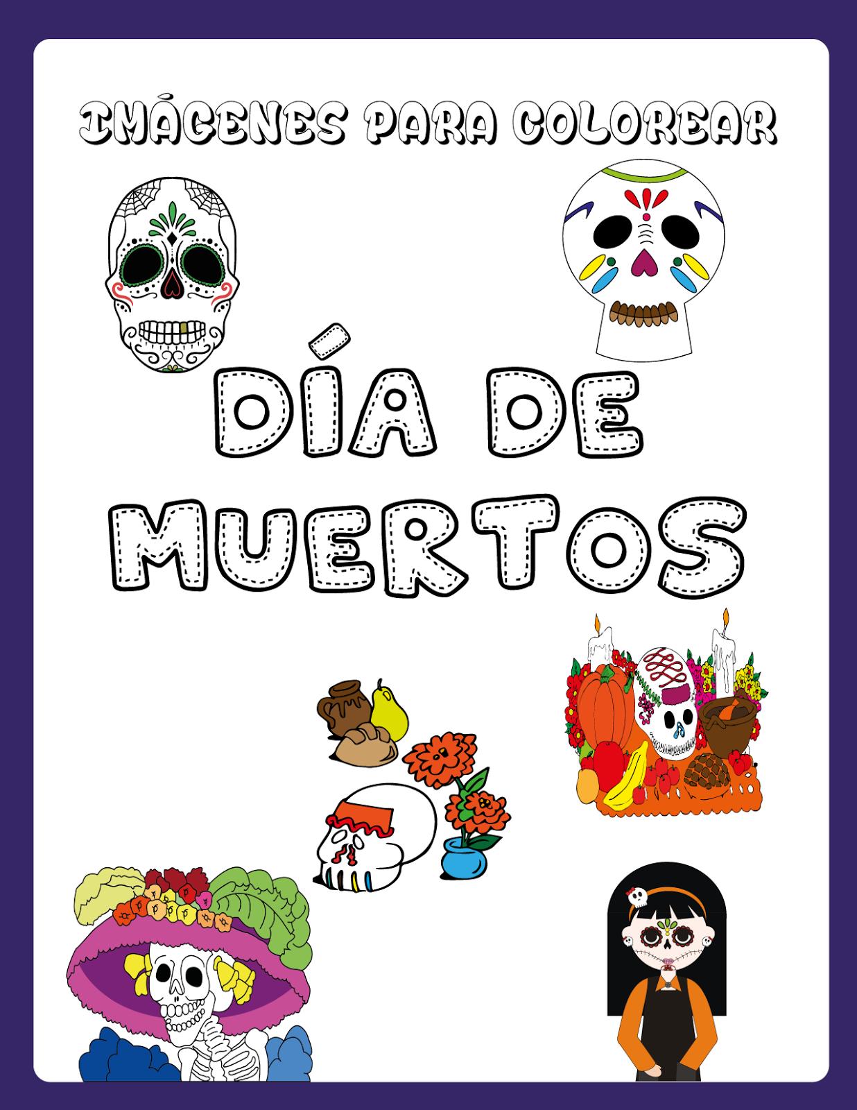 Imágenes Para Colorear Del Día De Muertos