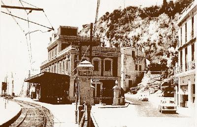Estación de la Renfe en 1964, Arenys de Mar