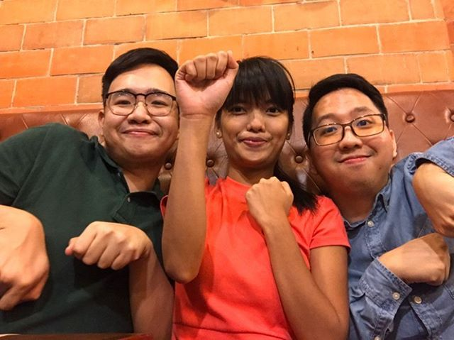 The Powerpuff Trio of Trilaloo Podcast (from left to right) - Emil, Edna and Renz
