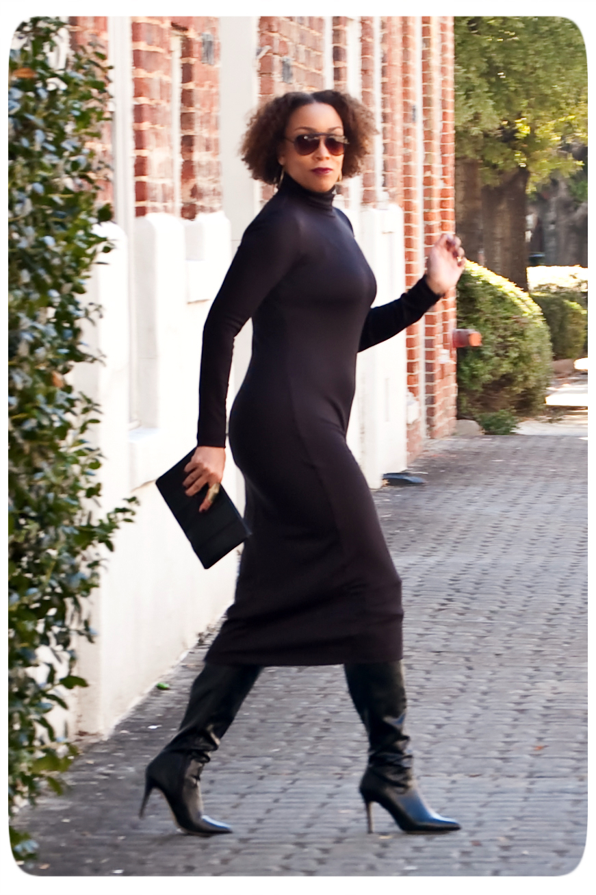 Vogue 8939 Turtleneck Midi Dress - Erica B - DIY Style!