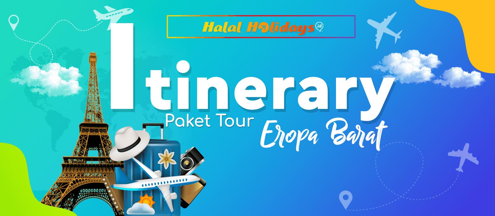 Itinerary Paket Tour Eropa Barat 10 Hari