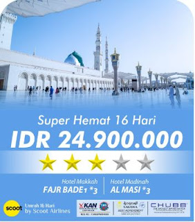 Umroh Super Hemat 16 Hari By Scoot Airline