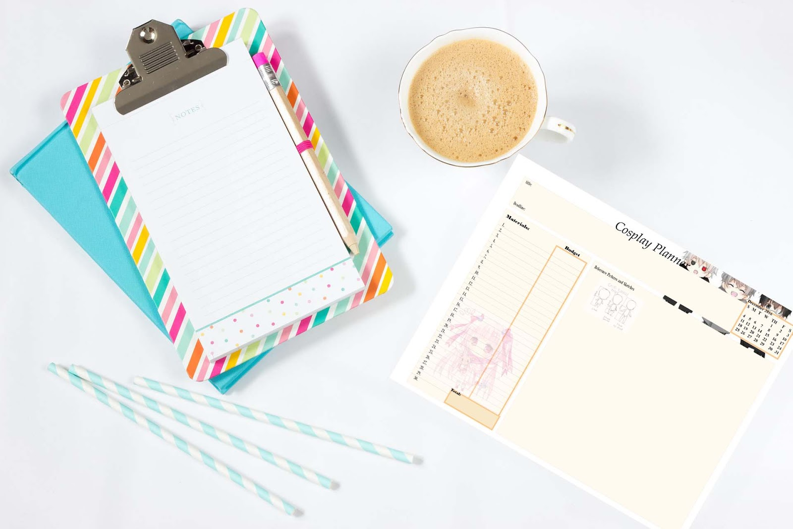 Cosplay Printable Planner For December 2016