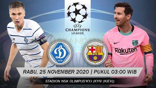 Prediksi Dynamo Kiev Vs Barcelona, Rabu 25 November 2020 Pukul 03.00 WIB @ SCTV