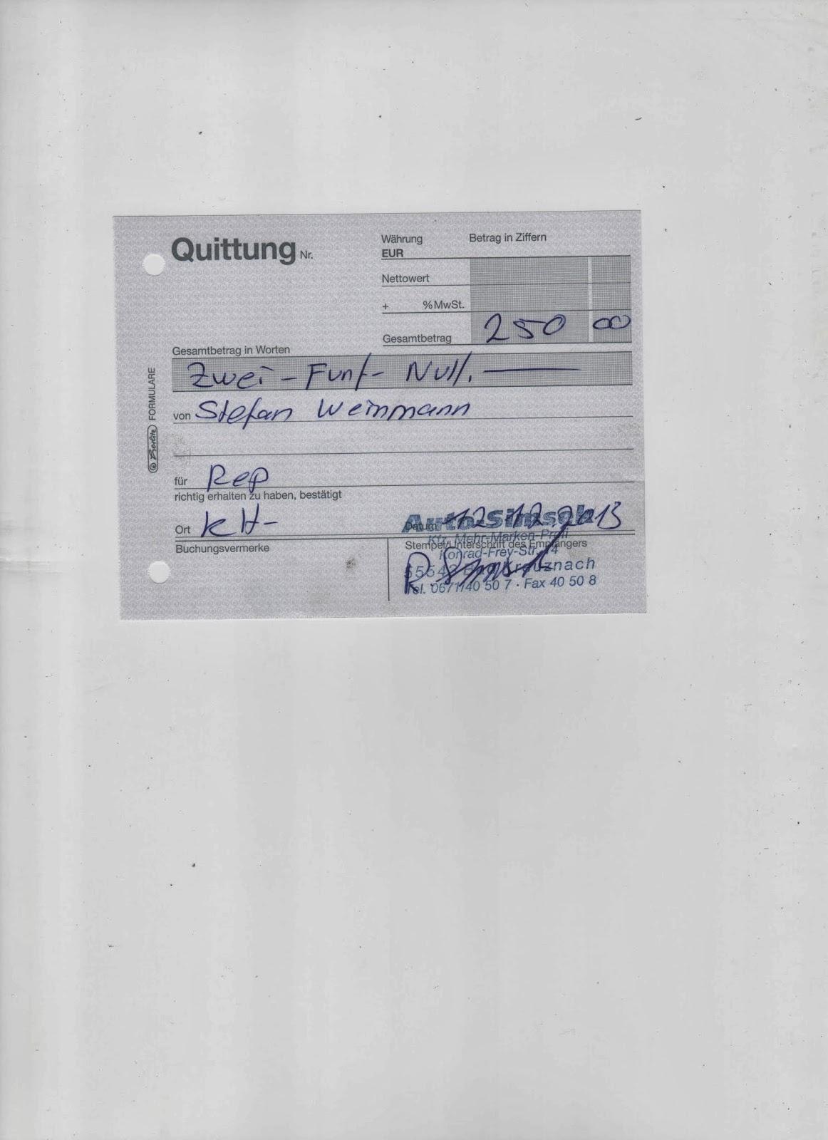 Excalibur Heute Bei Auto Simsek In Bad Kreuznach Rechnung Bezahlt