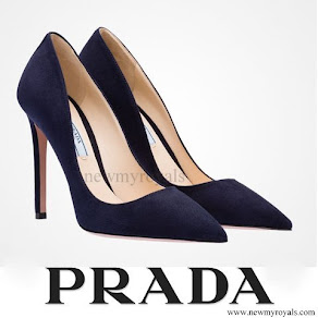 Countess Sophie of Wessex wore PRADA Suede pointy toe pump