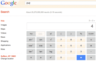how to use google calculator