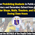 Prohibiting Students from Going to Com. Shops, Malls, and the likes