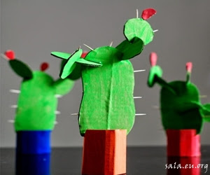 Making Crafts Easy Cactus Plants From Cardboard