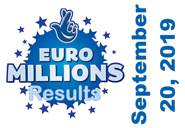 EuroMillions Results for Friday, September 20, 2019
