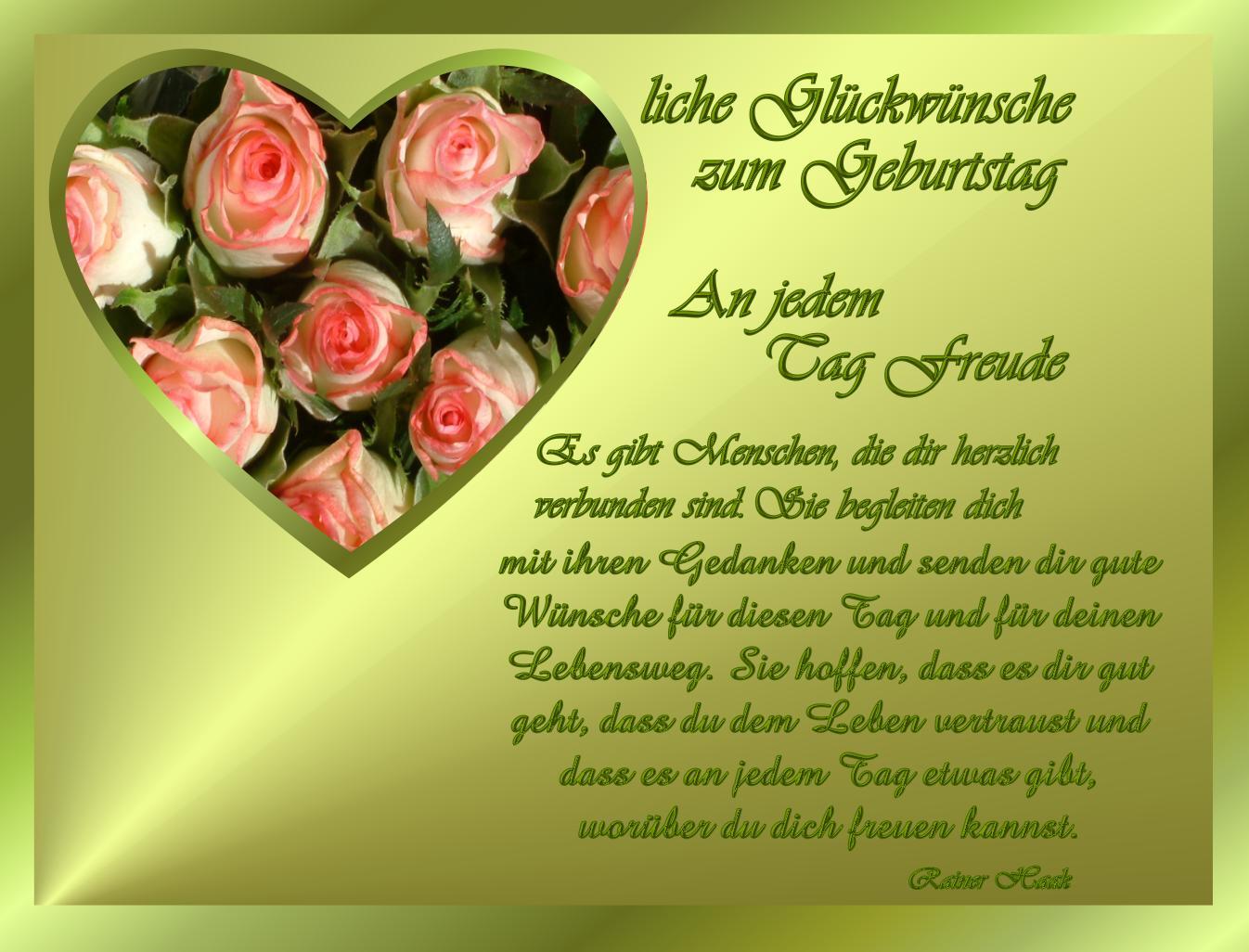 Ich Schenk Dir Rote Rosen Zum Geburtstag Jedes Jahr Schenkt Man