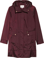 Back Bow Packable Hooded Raincoat COLE HAAN SIGNATURE
