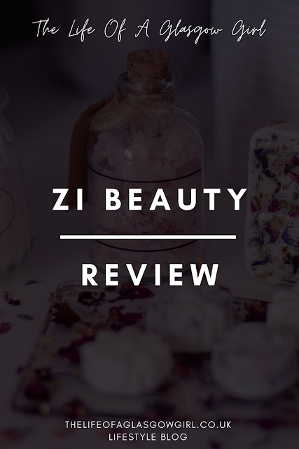 Pinterest Image of ZI Beauty Review - Review of a skincare and wellness gift box from Zi Beauty on Thelifeofaglasgowgirl.co.uk