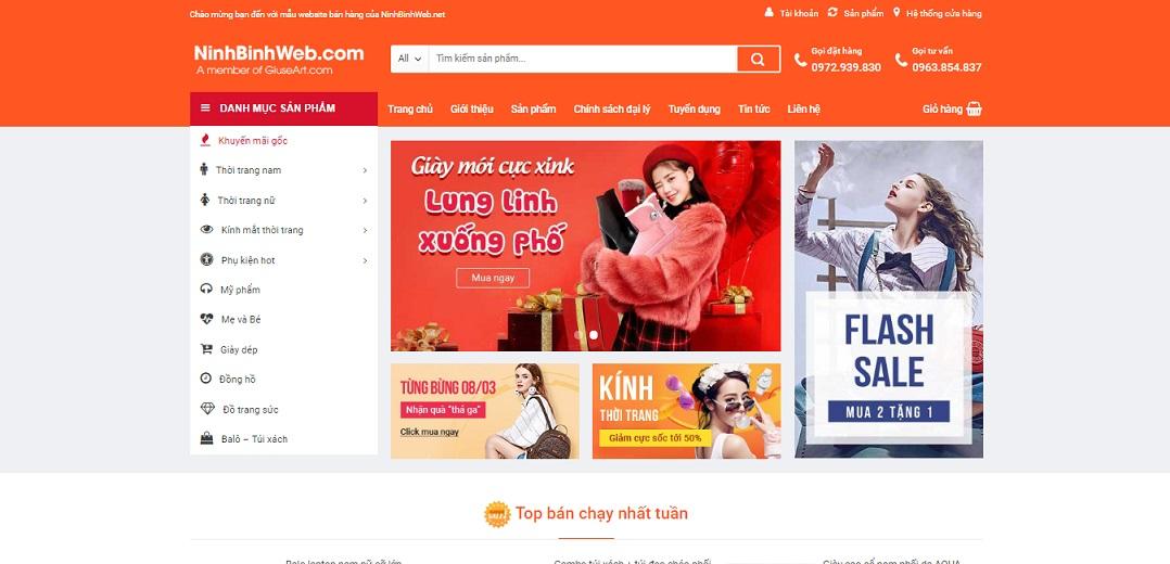 Share code Website thương mại điện tử giống Shoppee, Lazada 2019