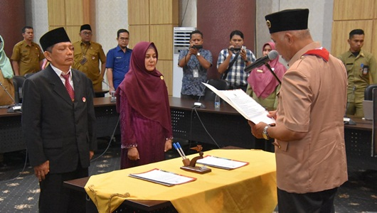 Wako Padang Lantik Dua Pejabat Eselon II, Muji Susilawati Jabat Kadis Dukcapil