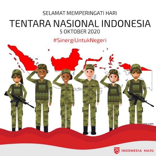 ucapan hari tentara nasional indonesia 2020