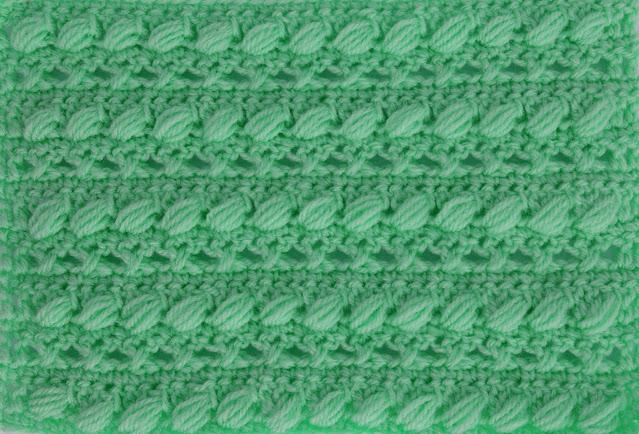 4 -Crochet Imagen Puntada combinada con punto puff especial para bufandas y canesús por Majovel Crochet3