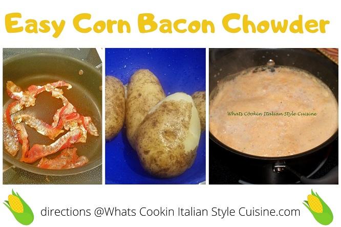 ingredients to make corn bacon soup photos
