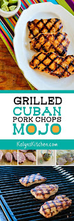Grilled Cuban Pork Chops Mojo found on KalynsKitchen.com