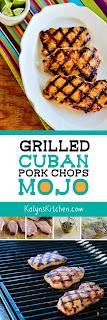 Grilled Cuban Pork Chops Mojo found on KalynsKitchen.com