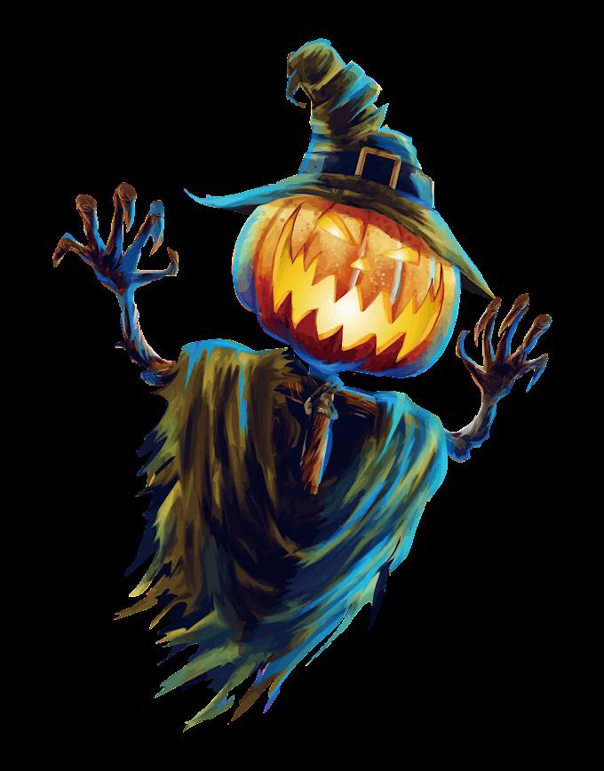 pumpkin monster illustration, Halloween Scarecrow Jack-o-lantern Festival, Halloween Scarecrow free png