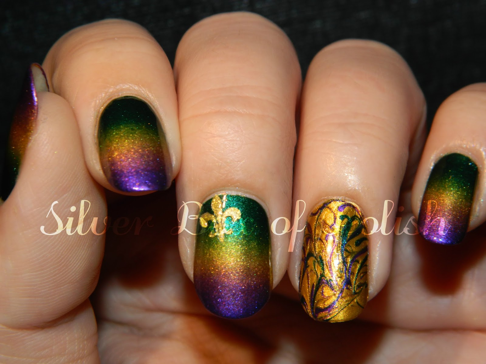 Silver Box of Polish: Mardi Gras Nails