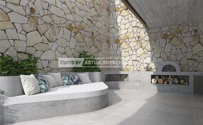 batu alam untuk ruang keluarga