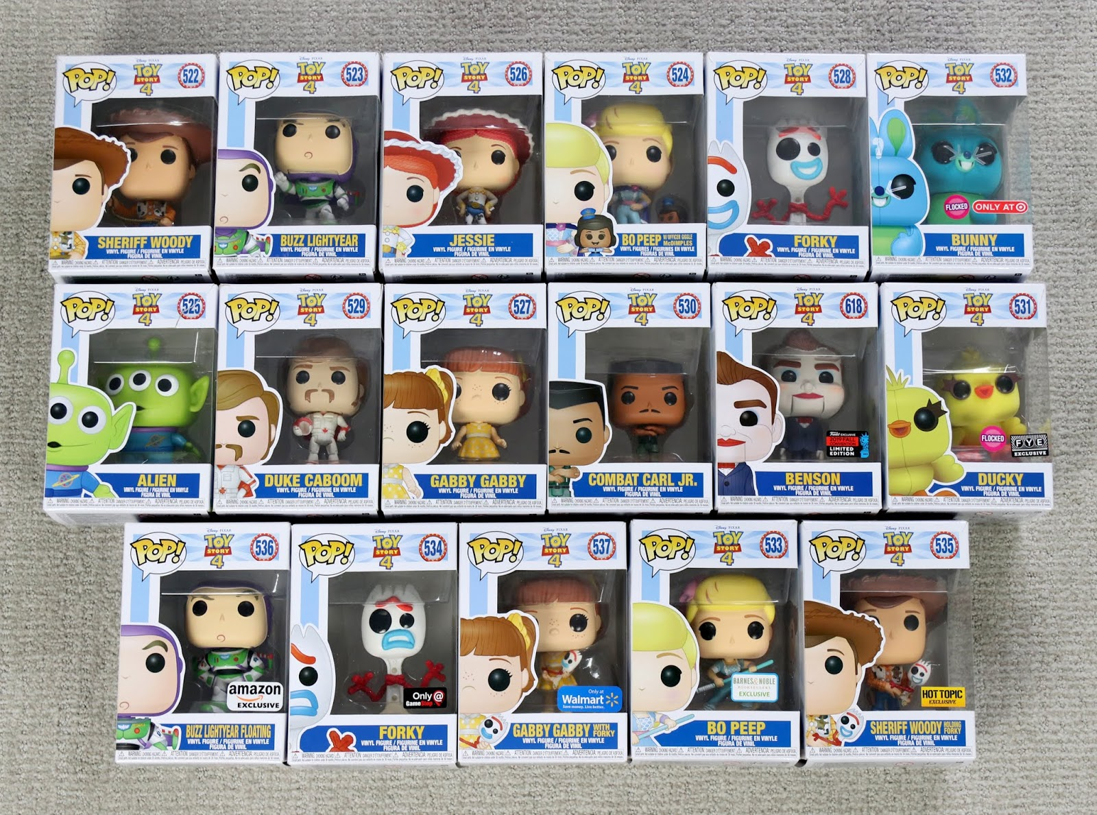 toy story 4 funko pop collection